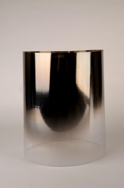 Aqua: Ca(CO)3. Digital image, mineral coated acetate, 36cm x 54 cm.